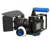 DSLR için Camera Cage + Follow Focus + Matte Box-2