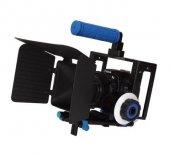 DSLR için Camera Cage + Follow Focus + Matte Box-3