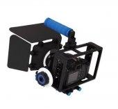 DSLR için Camera Cage + Follow Focus + Matte Box-4