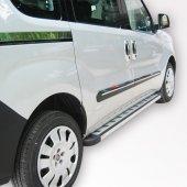 Spider Fiat Doblo2(2010) Krom Sürgülü Kapı Çıtas I 2 Prç.