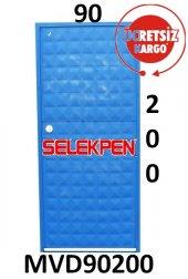 90x200 Mavi Dolu Demir Kapı