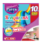 Parex Rengarenk Temizlik Bezi 10lu
