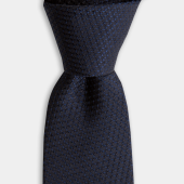 Lacivert Desenli Klasik İpek Kravat