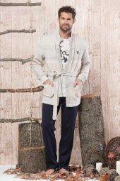 Aqua Erkek Uzun Kol 3 Lü Pijama Takımı