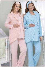 Baha 3 Lü Lohusa Pijama Takımı