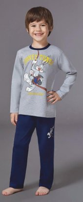 Looney Tunes Erkek Çocuk Pijama Takımı 3 8 Yaş