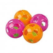 Plastik Futbol Topu Kedi Oyuncağı 4 cm