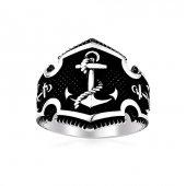 Denizci Çapası Motifli 925 Ayar Gümüş Yüzük...