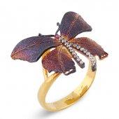 Kelebek Desenli Kadın Yüzüğü