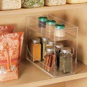 Mutfak Tezgah Üstü Ve Dolap İçi 2 Parça Birbirine Geçmeli Düzenleyici Organizer-2