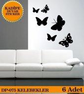 Kelebekler Kadife Duvar Stıcker Yapıştırma Dp 075