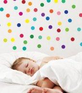Renkli Daireler Duvar Sticker