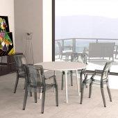 Siesta Mayart Bahçe Mutfak 6 Sandalyeli Yuvarlak Masa Takımı