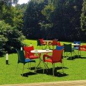Siesta Poliette 4 Sandalyeli Bahçe Mutfak Balkon Masa Takımı