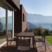 Siesta Ares 80 Bahçe Mutfak Balkon 4 Sandalyeli Kare Masa Takımı