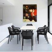 Siesta Mayair Xl 140 Bahçe Mutfak Balkon 6 Sandaly...