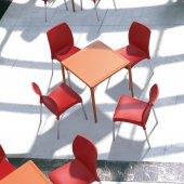 Siesta Vitango 4 Sandalyeli Bahçe Mutfak Balkon Kare Masa Takımı