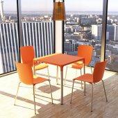 Siesta Miongo 4 Sandalyeli Bahçe Mutfak Balkon Kare Masa Takımı