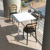 Siesta Msbibi Bahçe Mutfak Balkon 4 Sandalyeli Kare Masa Takımı