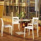 Siesta Icecca Bahçe Mutfak Balkon 4 Sandalyeli Kar...