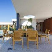 Siesta Artemis 140 Bahçe Mutfak Balkon 6 Sandalyeli Masa Takımı