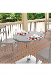 Siesta Tiffice 70cm Bahçe Mutfak Balkon 2 Sandalyeli Masa Takımı-12