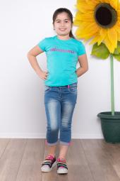 Ottomama Kız Paçası Düz Düğmeli Kapri