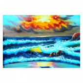 Sunset 95x70 cm Kanvas Tablo