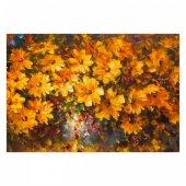 Sonbahar Çiçekleri 95x70 Cm Kanvas Tablo