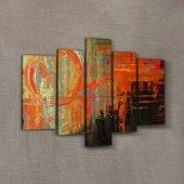 Abstract 95x70 cm Kanvas Tablo-2