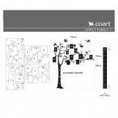 Aile Ağacı 1 Kadife Duvar Sticker 148X170 Cm-4