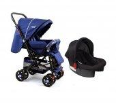 Diamond Baby P 101 Çift Yönlü Travel Sistem Bebek Arabası - Ayak Örtüsü Yağmurluk Dahil-3