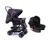 Diamond Baby P 101 Çift Yönlü Travel Sistem Bebek Arabası - Ayak Örtüsü Yağmurluk Dahil-4