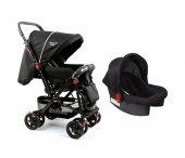 Diamond Baby P 101 Çift Yönlü Travel Sistem Bebek Arabası - Ayak Örtüsü Yağmurluk Dahil-5