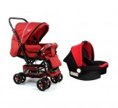 Diamond Baby P 101 Çift Yönlü Travel Sistem Bebek Arabası - 6 Renk - Ayak Örtüsü Yağmurluk Dahil-5