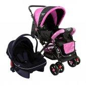 Diamond Baby P 101 Çift Yönlü Travel Sistem Bebek Arabası - Ayak Örtüsü Yağmurluk Dahil-6