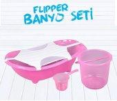 Flipper Bebek Banyo Küvet Seti - 5 Parça Bebek Banyo Küveti-3