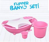 Flipper Bebek Banyo Küvet Seti - 5 Parça Bebek Banyo Küveti