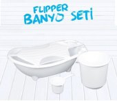 Flipper Bebek Banyo Küvet Seti - 5 Parça Bebek Banyo Küveti-7