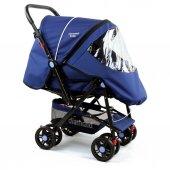 Diamond Baby P101  Çift Yönlü Bebek Arabası - 6 Renk - Ayak Örtüsü Yağmurluk Dahil -5
