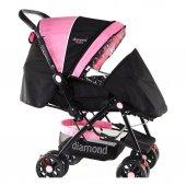 Diamond Baby P101  Çift Yönlü Bebek Arabası - 6 Renk - Ayak Örtüsü Yağmurluk Dahil -6