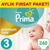 Prima Bebek Bezi Premium Care 3 Beden Aylık Fırsat Paketi 240 adet