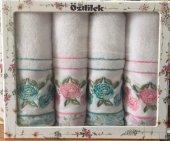 özdilek Rosina 4lü Nakışlı Pembe Mint Havlu Seti