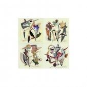 Alfred Gockel 4 Parça Kanvas Tablo 70x70 Cm