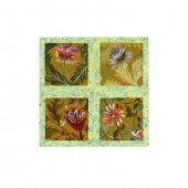 Different Flowers 4 Parça Kanvas Tablo 70X70 Cm