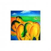 Horse S Love 4 Parça Kanvas Tablo 70x70 Cm