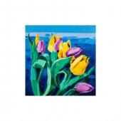 Lovely Flower 4 Parça Kanvas Tablo 70x70 Cm