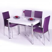 Gökkuşağı Mutfak Masası Yemek Takımı Masa Takımı Sandalye 10 Renk-2