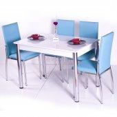 Gökkuşağı Mutfak Masası Yemek Takımı Masa Takımı Sandalye 10 Renk-3