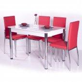 Gökkuşağı Mutfak Masası Yemek Takımı Masa Takımı Sandalye 10 Renk-5